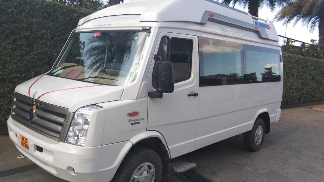11 Seater AC Tempo On Rent in Bengaluru - Cabsrental.in