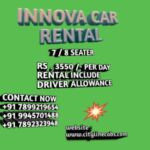 Innova for rent in Bangalore with driver