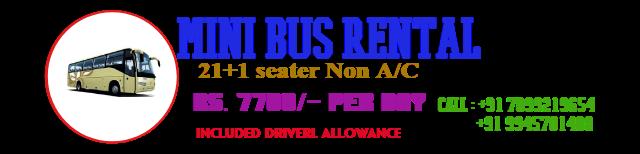 Mini Bus Rental NON AC