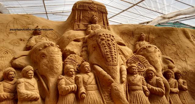 Mysore Sand Sculpture Museum.Mysore City darshan Cab,cabsrental.in