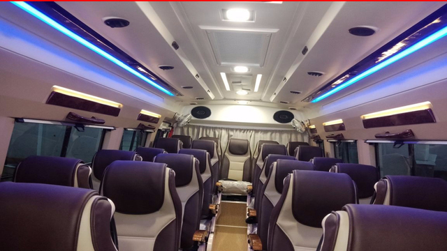 Force AC 14seater tempo traveller Rental in bangalore.cabsrental.in