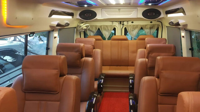 Force Tempo 9 Seater Wedding Car Rental in Bangalore.cabsrental.in