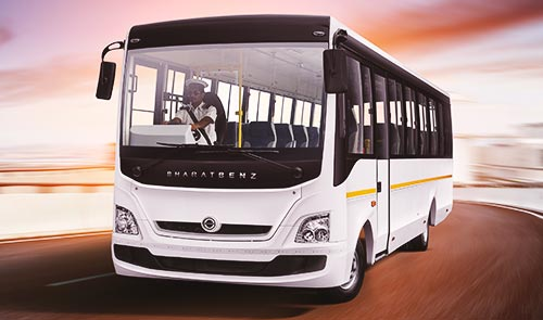 BharatBenz 25 Seater Bus Rental in Bangalore.cabsrental.in